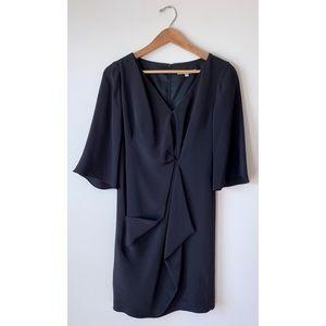 Flores & Flores 🌸 Black Silk Cocktail Shift Dress